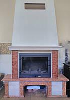 Камин мраморный Perlino rosso&bianco