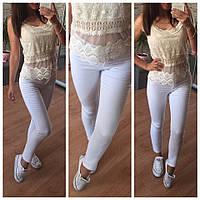 Белые женские стретч-джинсы