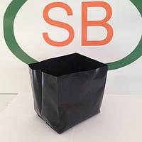 Горшок-пакет(контейнер) для декоративных и плодовых растений, 8 л, черный (полиэтилен). Украина