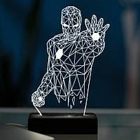 Настольный светодиодный 3D светильник ЖЕЛЕЗНЫЙ ЧЕЛОВЕК