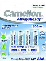 Аккумуляторная батарея CAMELION R 03/4bl 600 mAh Ni-MH (Always Ready)