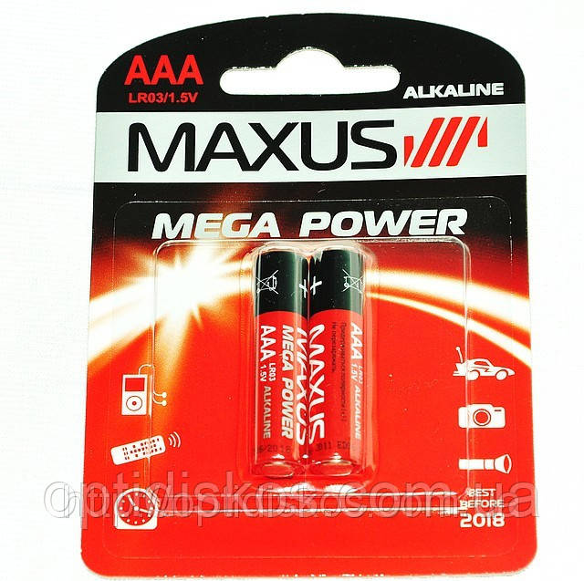 Батарейка Maxus Mega Power, LR03, AAA