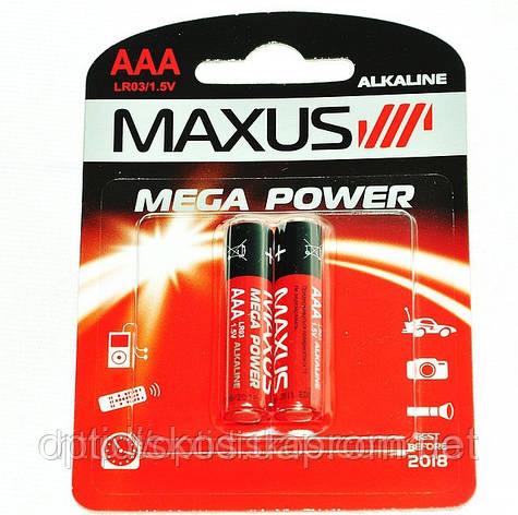 Батарейка Maxus Mega Power, LR03, AAA, фото 2