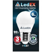 "LED лампа светодиодная 6W G45 E14   шарик ""Premium"" 570lm 4000 К матовое стекло"