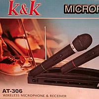 Микрофон радио АТ-306 радиосистема 2-радиомикрофона