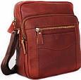Кожаная мужская сумка 30111, рыжий, фото 2