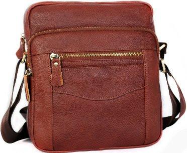 Кожаная мужская сумка 30111, рыжий