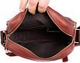 Кожаная мужская сумка 30111, рыжий, фото 5