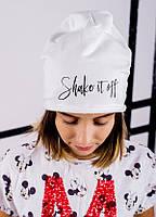 Детская шапка ВАЛОРИЯ для девочек оптом размер ХС-С-М, фото 1