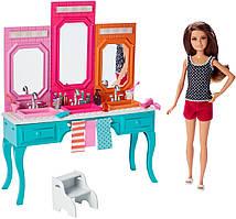 "Кукла Скиппер ""Барби и ее сестры"" Ванная комната / Barbie Sisters Skipper Doll with Bath Vanity"