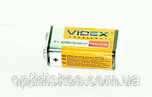 Батарейка крона VIDEX, 6F22, 9V