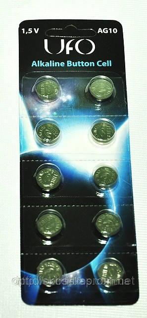 Батарейка UFO AG10, уп.10шт.