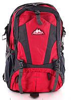 Горный вместительный рюкзак из нейлона/полиэстера 34 л. Mountain backpack baijawei red, красный/серый