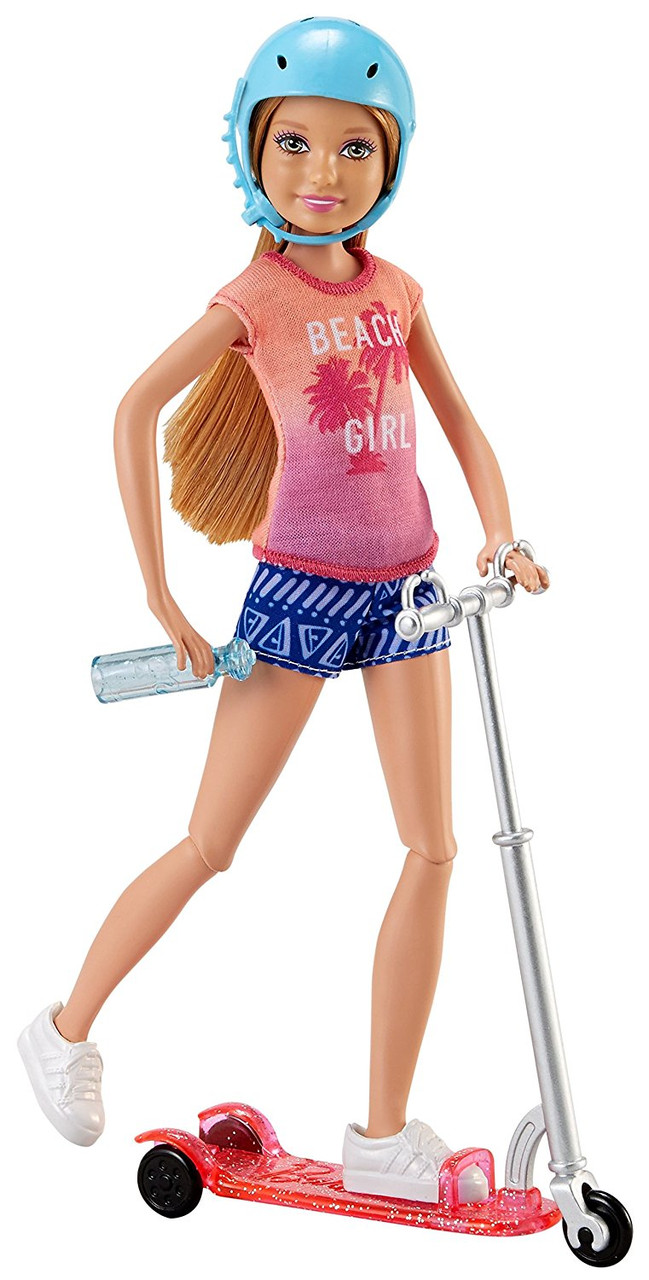"Кукла Стейси на скутере серии ""Барби и ее сестры"" / Barbie Stacie Doll & Scooter"