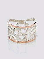 Кольцо Любовь серебро с золотом , фото 1