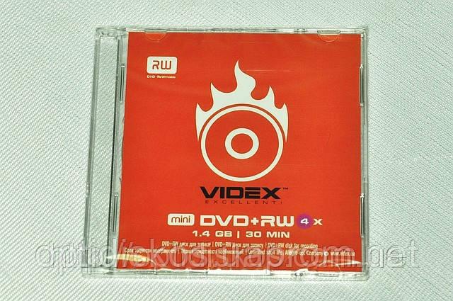Mini DVD+RW Videx*4, 1,4Gb, slim