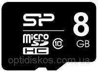 Карта памяти SILICON POWER microSDHC 8 GB card Class 10  no adapter