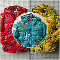 Детская демисезонная куртка с мультяшками, 92-116 см