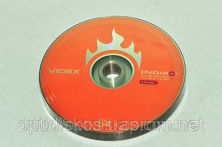 Диск двухслойный DVD+R DL Videx *8, 8,5Gb, фото 2