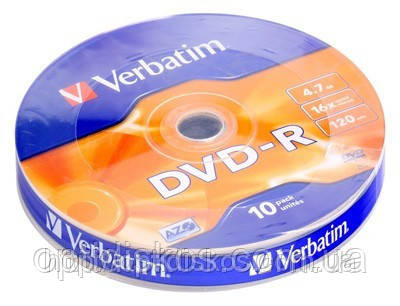 DVD-R Verbatim, 4,7 GB 16x, bulk-10