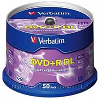 Диски DVD+R DL Verbatim *8, 8,5Gb, cake-50