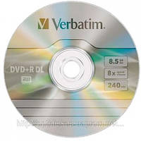 Диск DVD+R DL Verbatim *8, 8,5Gb