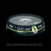 DVD+RW TDK*4,4,7Gb,  cake -10