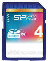Карта памяти Silicon Power SDHC 4Gb class 10