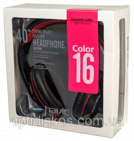 Навушники HAVIT HV-H613D, black/red