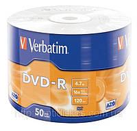 Диски DVD-R Verbatim, 4,7Gb, x16, 50 шт. на шпинделе, фото 1