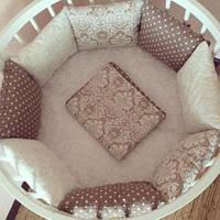 Бортики защита в кроватку, детское постельное белье