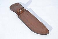Чехол для ножа №8 кожаный коричневый с тиснением