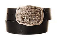 Ремень кожаный Levi's   BLACK