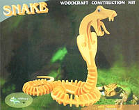 Деревянные 3D пазлы - змея (2 пластины)