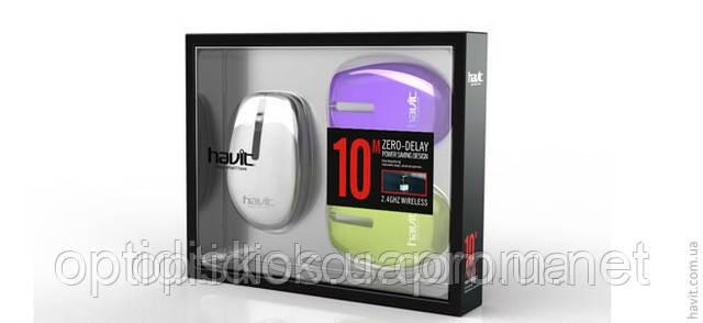 Беспроводная USB мышь HAVIT HV-MS261GT c 3 цветными корпусами