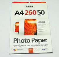 Фотобумага Videx HGA4-260/50 глянец