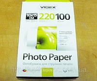 Фотобумага Videx HGA6-220/100 глянец