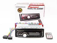 Автомагнитола Pioneer 3228 DBT Bluetooth - Usb+RGB подсветка+Fm+Aux+ пульт, фото 1