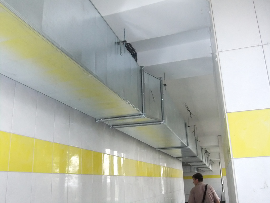 Вентиляция банно-прачечного комплекса ЦОФ г. Павлоград (компания ДТЭК)