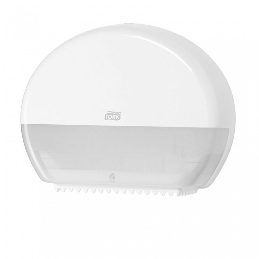 Диспенсер Tork для туалетной бумаги в мини рулонах белый