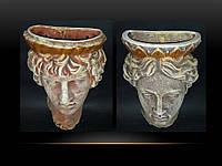 Кашпо настенное античная голова женская Р071