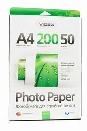 Фотобумага Videx HGA4-200/50 глянец + пачка фактурной фотобумаги