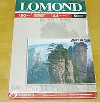 Фотобумага LOMOND глянцевая-глянцевая двухсторонняя 180g A4*50