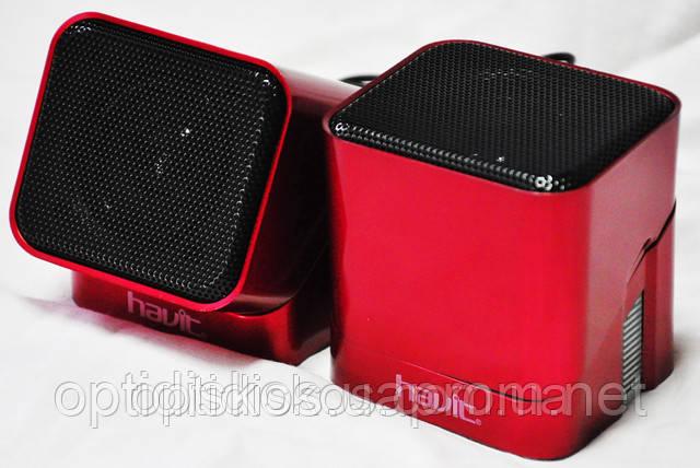 Колонки Havit speaker   HV-SK113 USB, красные