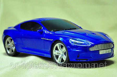 "Портативная колонка Машинка WS-788  ""Aston Martin"", синяя, фото 2"