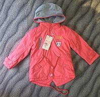 Куртка-парка для девочек 86-116см