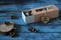 Шоколадное печенье в розовой, приятной на ощупь коробке (P4)