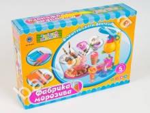Пластилин Мороженое, 5 цветов (баноч.с крыш), аппарат-пресс, формочки, в кор-ке