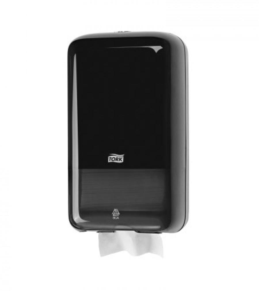 Диспенсер для листовой туалетной бумаги Tork черный