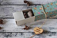 Шоколадное печенье в бирюзовой, приятной на ощупь коробке с рисунком (BP5)